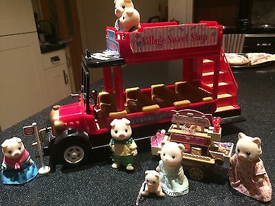Sylvanian Families Country bus & Village sweet shop