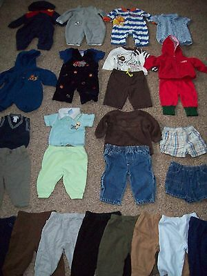 Lot 27 Piece Baby Boy Clothes Size 3 to 6 Months Shirts Pants Hoodies Jumpers