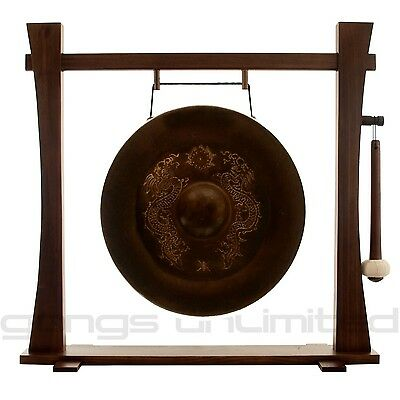 "20"" Vietnamese Dragon Gong on Holding Space Stand with Mallet"