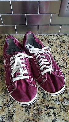 Converse One Star Plum Purple Canvas Lace Up Sneakers Women's Size 9.5
