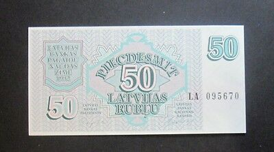 50 rubles rubli 1992 Latvia, 100% new, without folds !