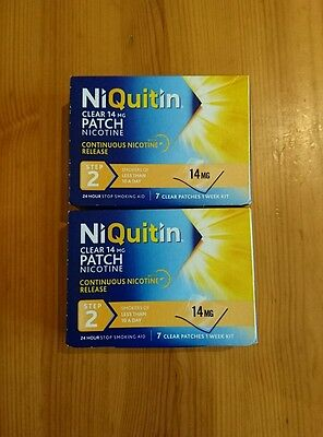 Niquitin Clear 14mg Patch Step 2---14 Patches Look!!!