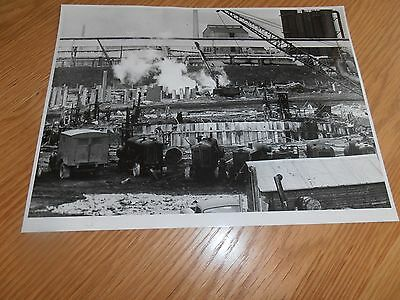 1950s  Photo, Cranes & Piling, SCOW, Abbey Works, Port Talbot,