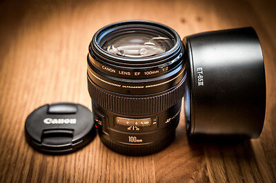 As New Condition Canon EF 100mm f2 USM Lens