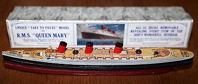 """Chad Valley R.M.S. Queen Mary """"Take To Pieces"""" Ship superb condition"""