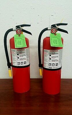 10lb Fire Extinguisher - ABC Dry Chemical - Kidde - New Tag - Two Pack -