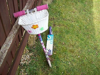 Pink & Purple Scooter with basket