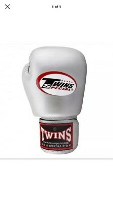 Twins Special Bgvla-2 Breathable Muay Thai Boxing Gloves 10oz In Silver NWOT