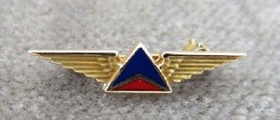 ~Delta Airlines 10K Yellow Gold Service Wings Award Pin~
