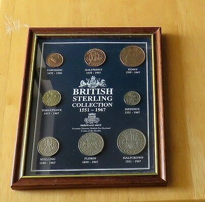 8 Coin British Sterling Collection 1551 To 1967