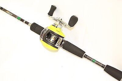 11BB high Quality Low Profile Baitcaster Reel Right Hand-Green & Black