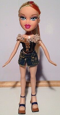 Bratz  Doll Collectible In Denim Outfit Blonde Hair Beauty Authentic!!