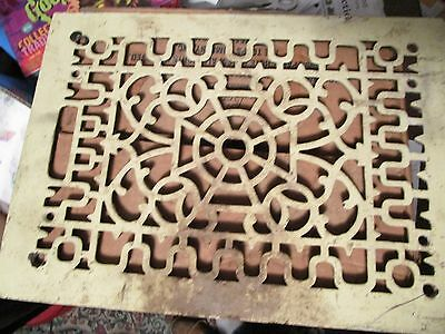 Vintage Antique Cast Iron Architectural Salvage Heat Grate Register 10 x 14