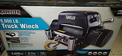 Traveller 8,000 lb CAPACITY, Truck winch, 2.7HP, 12V, Model# 1078654