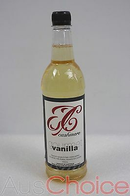 Box of 6 x Cashmere 750mL Gourmet Vanilla Syrup Bottle - Coffee Soda Cocktail