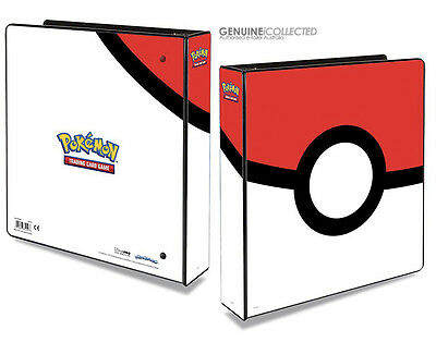 Pokeball Art Pokemon Card Album 3-Ring Storage Binder Folder for 9-Pocket Pages