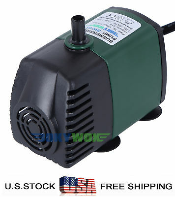 110-120V Submersible Water Pump 7W Fountain Fish Tank Pond Hydroponic 198GPH