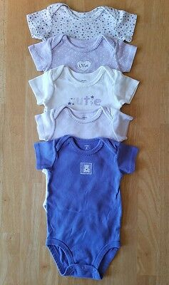 Baby Girls Clothes, Set of 5 Bodysuits, Size 6 Months, Carter's brand