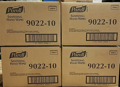 4 Cases New Purell Sanitizing Hand Wipes Individually Wrapped 40 BOX LOT