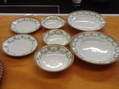 (7) Pieces Of Kaiserin Maria Theresia-Carlsbad China-Swag Wreath Greenery-Nice!