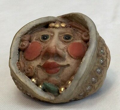 Whimsical Handmade Clay Pottery Face