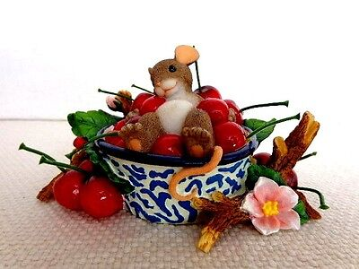 """Fitz & Floyd Charming Tails """"Life Is A Bowl Full Of Cherries"""" Item : 89/135"""