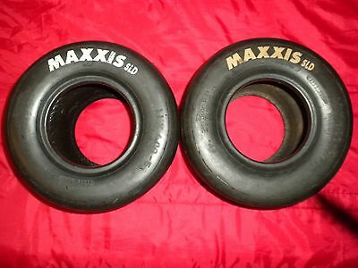 Vintage Go Cart Maxxis SLD 11 x 6.00-5 Racing Tires (PAIR) NEW