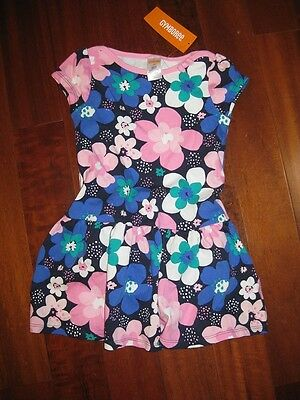 NEW NWT Gymboree baby Girl 3T 3 dress Flower Pink Navy Blue SPRING green white