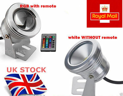 RGB/white/warm white 10W DC12V Underwater Light Convex Lens Integrated IP65