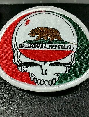 Grateful Dead inspired California Steal Your Face flag embroidered patch company