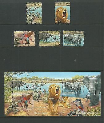 Botswana 2001 Wetlands (2nd Series) SG958-62+MS963, mnh.