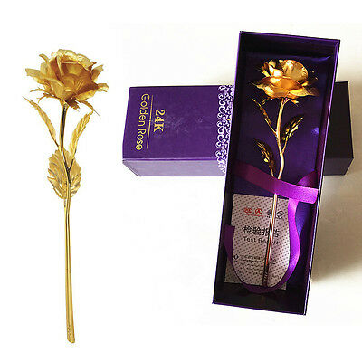 1024k Gold Dipped Rose Flower For Wedding Valentines Day Gift
