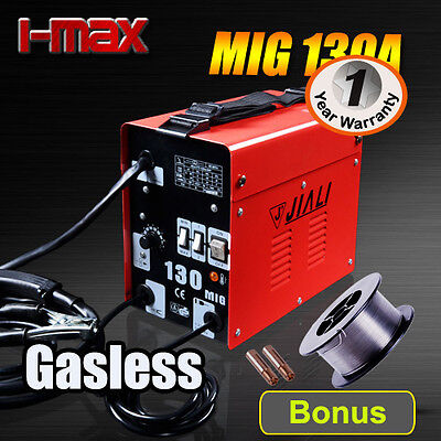 NEW 130 Amp Gasless MIG/MAG Portable Welder Welding Machine Metal Steel 10A Plug
