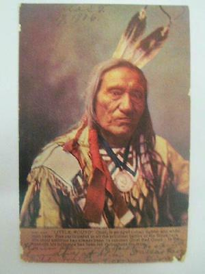 1906 Chief Little Wound Native American Sioux Indian Fighter in Full Dress w Med