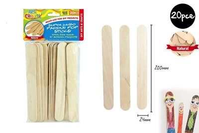 26 Super Jumbo Craft Stick Paddle Pop Sticks DIY school Scrapbooking Ice Cream