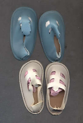 Chatty Cathy White and Blue Sandals 1960's
