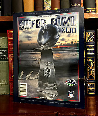 Super Bowl XLIII Program HAND SIGNED by Gary Russell! Pittsburgh Steelers!