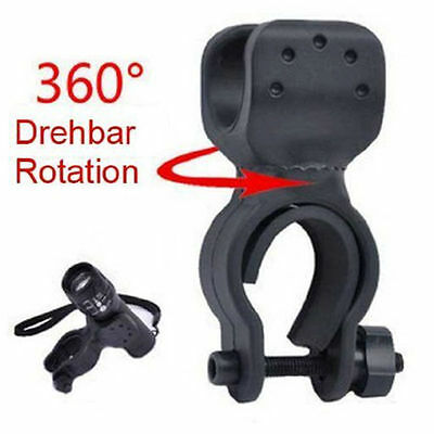 360° Swivel  Cycling Clip Clamp Domire Bicycle Flashlight LED Torch Mount Holder