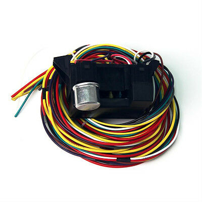 wiring harness for truck box wiring diy wiring diagrams description 12v 10circuit wiring harness basic wire fuse box street hot rat rod car truck