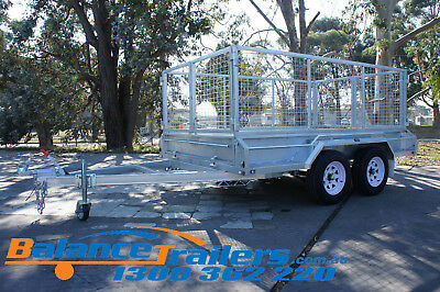 10x6 HOT DIP GALVANISED FULL WELDED TANDEM TRAILER WITH 600mm REMOVEABLE CAGE