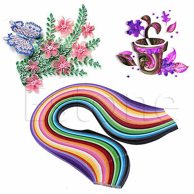 260PCS Colorful Stripes Quilling Paper 3-10mm Width Hand Craft DIY Origami Paper
