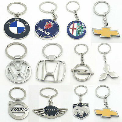 Fashion Car Auto Logo Titanium Key Chain Car Keychain Ring Keyfob Metal Keyrings