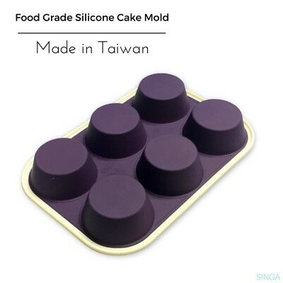 Cupcake Muffin Mold Baking Mold Dessert Tray NonStick Silicone Pastry 6 Cups