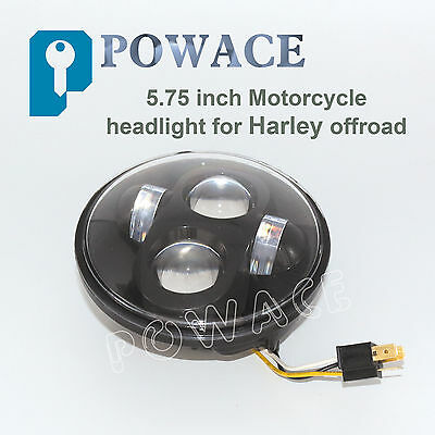 """Black 5.75"""" CREE LED Headlight Projector Daymaker For Harley Davidson Motorcycle"""