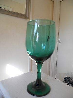 vintage green glass 7 inch