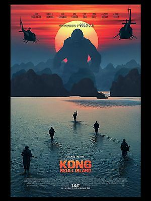 """Skull Island 16"""" x 12"""" Reproduction Movie Poster Photograph"""