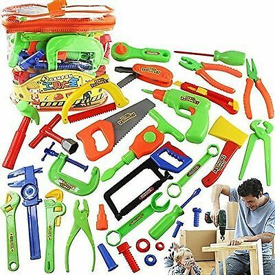 34pc Kid Learning Play Workshop Toolbox Workbench Pretend Tools Educational Toy