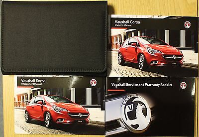 Vauxhall Corsa E Owners Manual Handbook Infotainment Service Book 2014-2017 Pack