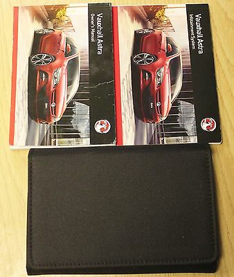 Genuine Vauxhall Astra J Owners Manual Handbook Audio Sat 2012-2016 Book Pack