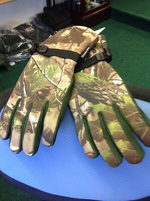 Shooting Gloves Camo Leather Palm Thinsulate Green Stalking Glove Size L